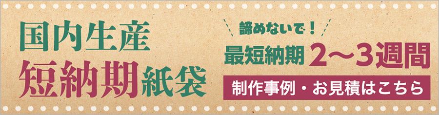 国産生産短納期紙袋