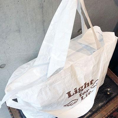 オリジナルエコバッグ、オリジナルトートバッグ、タイベック、船底型トートバッグ、シルク印刷