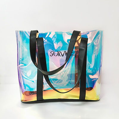 オリジナルエコバッグ、PVC、オーロラPVC、ビニール素材、シルク印刷
