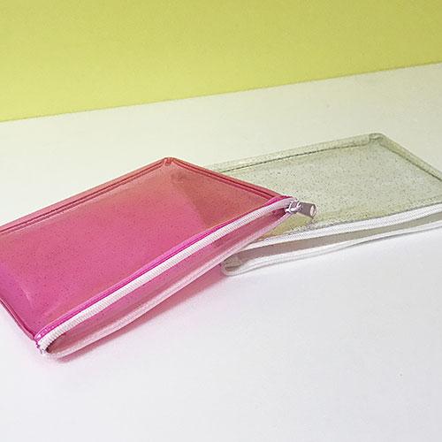 オリジナルポーチ、PVC、ビニール素材、シルク印刷