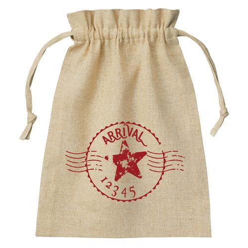 エコバッグ コットンリネン 巾着 シルク印刷 名入れ印刷