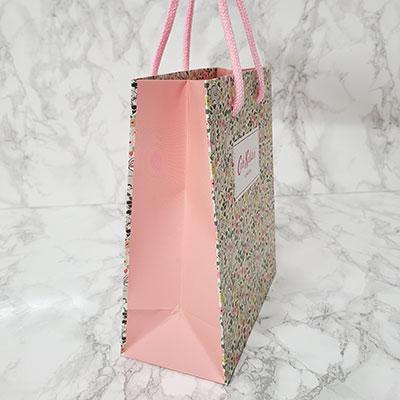 オリジナル紙袋 オリジナルショッパー フルカラー印刷 アクリルスピンドル 可愛い